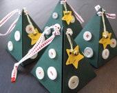 Mini Christmas Tree Gift Box with tag (set of 4)