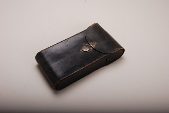 Vintage Antique Leather Eastman Kodak Camera Bag Free Shipping