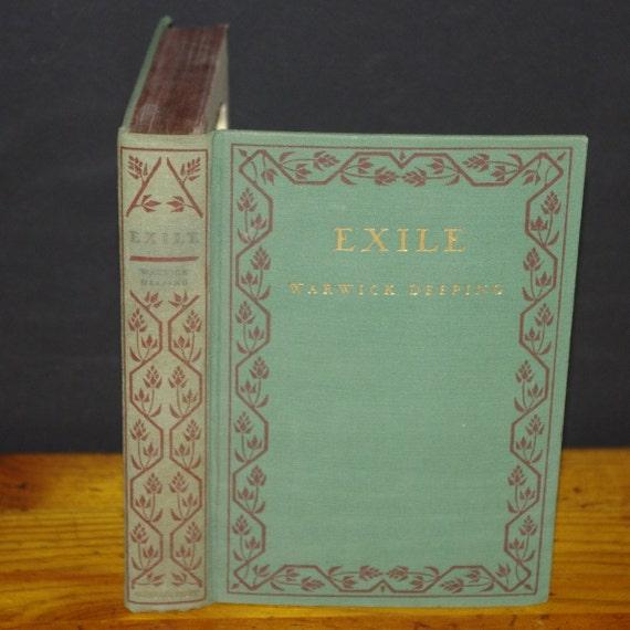 Hollow Book Safe Exile cloth bound vintage Magnetic Closures