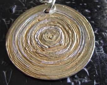 Universe Big Bang Pendant in Silver and gold