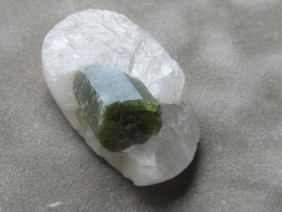 Tourmaline Crystal in Quartz Bead