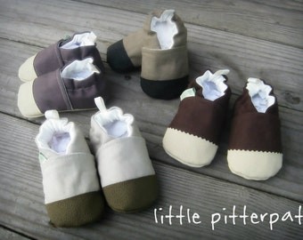 Organic Vegan Hemp Blend / Non-Slip Soft Sole Baby Shoes /Made to order / Babies and Toddlers