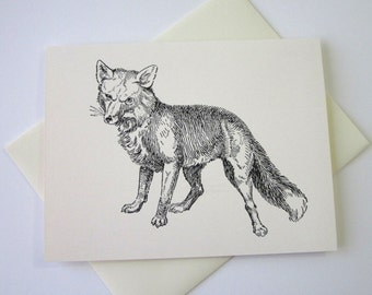 Fox Note Cards Stationery Set of 10 Cards