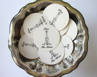 Chandelier Paris Flea Market Tags Round Paper Gift Tags Set of 10