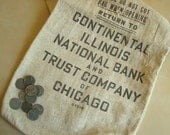 Vintage money bag, Continental Illinois Bank & Trust, Chicago