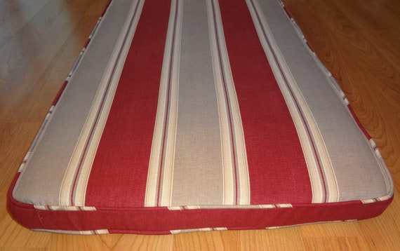 "Bench Seat Cushion and Cover, Custom Made, 89"" x 22"" x 2"", includes fabric,foam as pictured.Ready to Ship. Reduced Price."