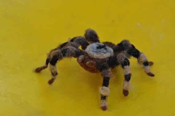 Halloween Needle Felted  Animals Spider-Halloween Decoration- -needle felt by Daria Lvovsky- Ready to ship.