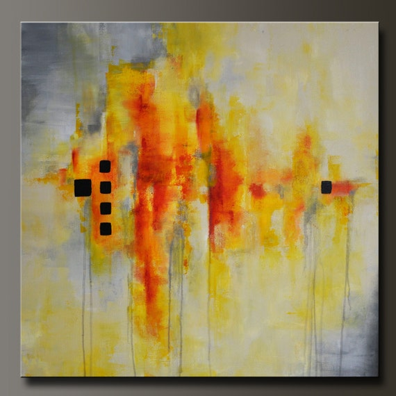 Resolution - 30 x 30 - Abstract Acrylic Painting - Huge - Contemporary Wall Art