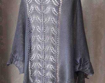 TABATHA, Knitting shawl pattern pdf