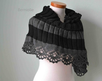 JACKY, Knit & crochet capelet pattern pdf