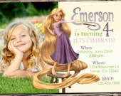 Awesome Tangled Birthday Invitation-SALE