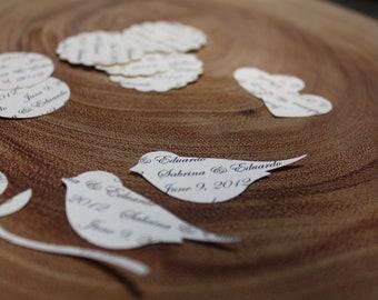 Vintage Shabby Chic Personalized Wedding Confetti