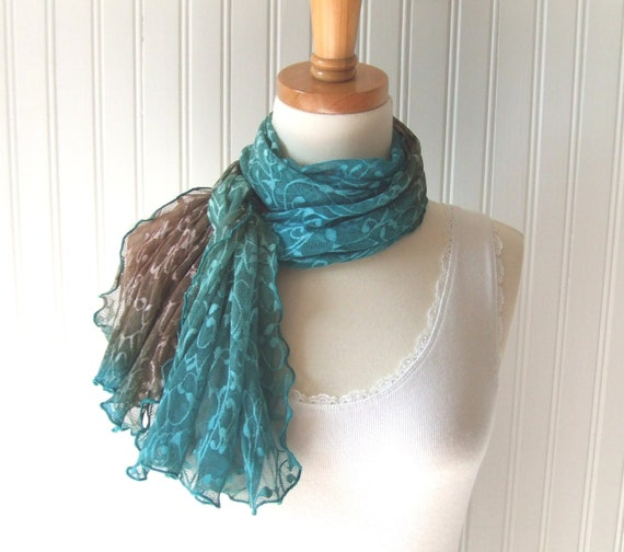 Earth and Sky Lace Short Scarf