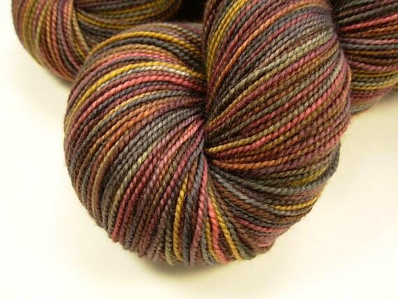 Sock Weight Superwash Merino Wool Yarn, Hand Dyed - Agate
