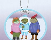 Seasons Greetings from The Alien Frogs of Antarctica Paper Ornament