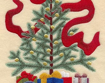 VICTORIAN CHRISTMAS TREE- Machine Embroidered Quilt Blocks (AzEB)