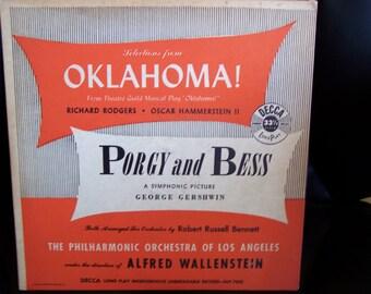 Vintage vinyl record OKLAHOMA Porgy and Bess