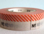 Japanese Masking Tape 1 Piece - Numbering Lavels Red