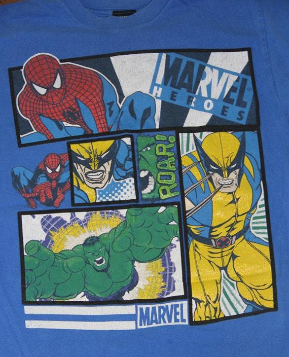 Upcycled Tee Newborn Short Sleeve Onesie or Newborn Marvel Heros Tee