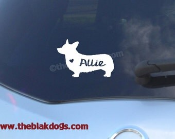 Pembroke Welsh Corgi Silhouette Cardigan Vinyl Sticker Car Decal Personalized