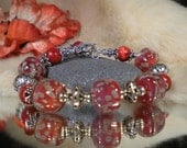 Lampwork bracelet VERY BERRY