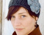 Crochet Boho  Flower Headband / Headwrap - You Choose Colors
