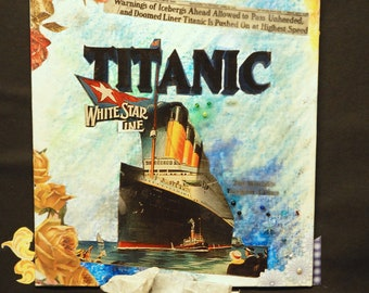 SALE! Titanic Ill-fated Voyage Fine Art 16 by 18 inches  3-D