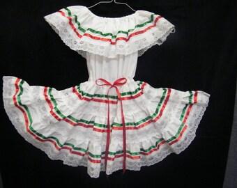 """0 - 3 months - Mexican """"Fiesta"""" Dress"""