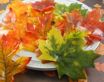 Soap - Fall Soap Leaves - Individual Silk Leaves Soaps - Glycerin Soap - Guest Soap - SoapGarden