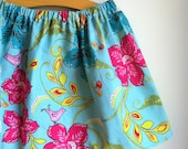 tropical jewels  - baby toddler girls skirt - handmade by noah and lilah - 3T ready to ship