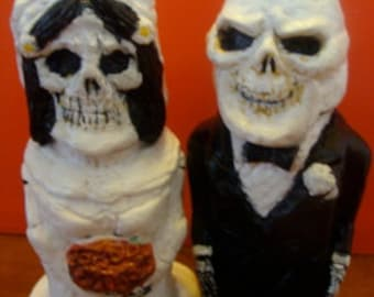 Skeleton Bride And  Groom S/P shakers(standard Size)*Made To Order*