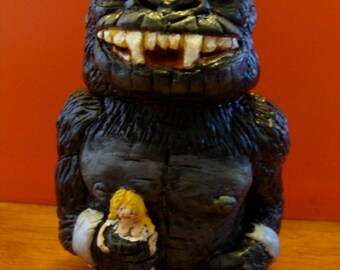 Giant Ape Keepsake Holder jar(functional-art sculpture)*Made To Order*