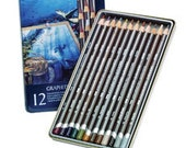 Derwent Graphitint 12 Graphite Pencils