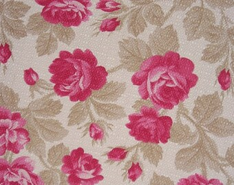 Climbing Roses  Vintage Reproduction Designer Cotton Fabric  by American Folk and Fabric