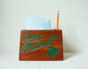 Vintage Wooden Phone Message Holder Great Falls, Montana