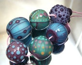 Moogin - Eclectic colourful lampwork bead set - SRA - mooginmindy