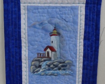 Lighthhouse Quilted Wall Hanging