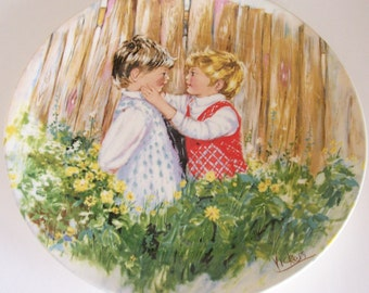 Vickers Be My Friend Collectible Plate Vintage Porcelain Wedgwood Queens