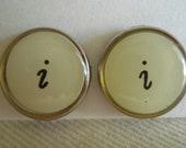 Typewriter Key Post Earrings