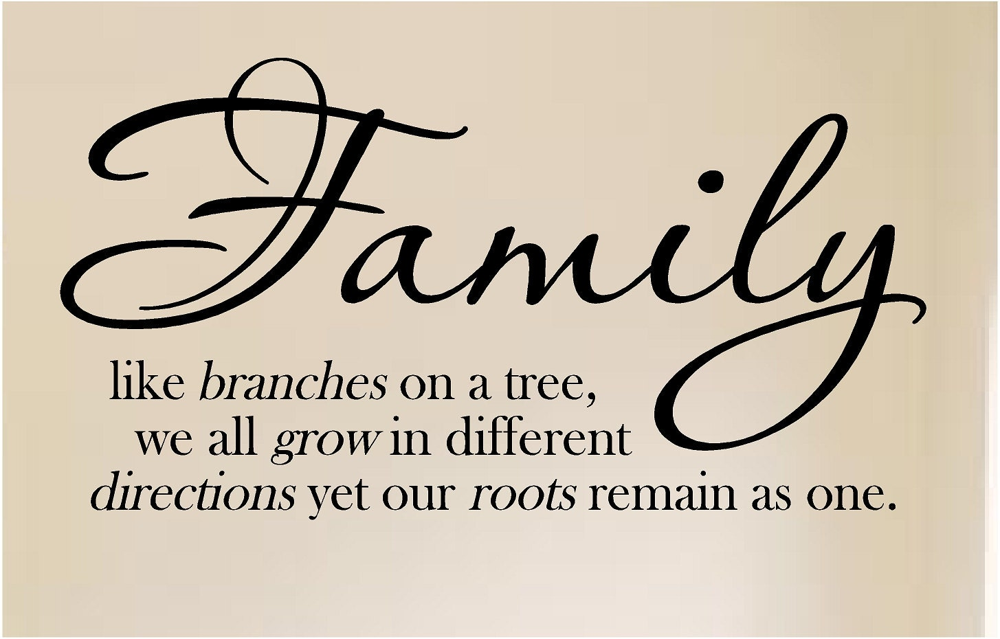 New Family Like Branches From A Tree Vinyl Wall Art
