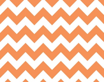 SALE - Riley Blake - Medium Chevron in Orange