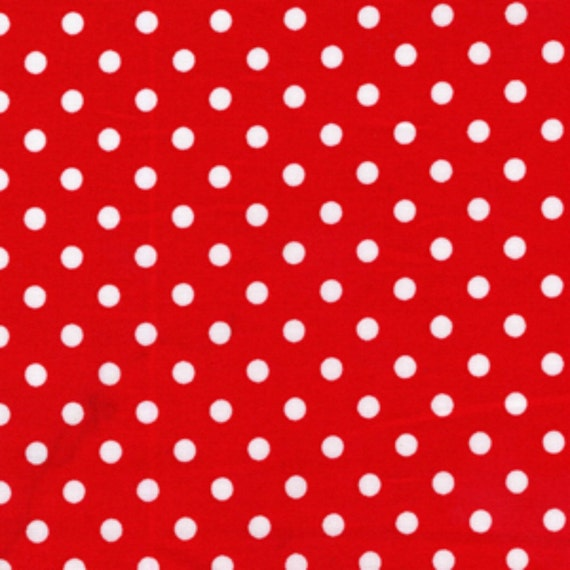 Michael Miller Dumb Dot in Red - By the Yard
