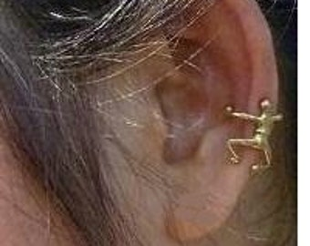 Brass Ear Cuff - Unisex Jewelry - Little Dancing Man
