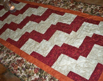 Quilted Table runner- SALE - Autumn Foliage