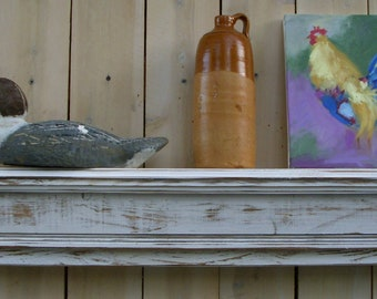 Shelves - Wood Wall - Shelve - Wall Shelf - Wooden Mantel - Floating Shelf - Shabby - Cottage Chic - Farmhouse - Ledge - Furniture - 40""