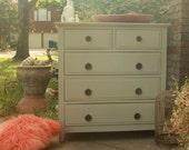 Cottage Blue Dresser with Vintage pulls