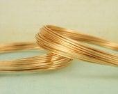 Premium Gold Colored Wire - Half Hard - Non Tarnish - 100% Guarantee - 14, 16, 18, 20, 22, 24, 26 gauge