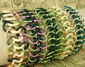 Stretchy Bracelet Kit - Economical Aluminum and Rubber Chainmaille - Fun and Easy