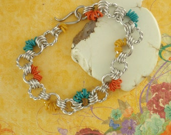 Garden Twist Chainmaille Bracelet Kit - Perfect for Beginners, Fun for All Jewelry Makers