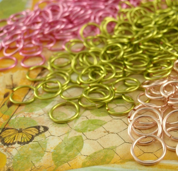 100 Peridot Rose Mix Jump Rings - You PICK 18, 20,  22, 24 Gauge - Most Any Diameter - 100% Guarantee!